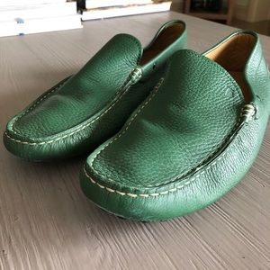 Tod's Green leather moccasins